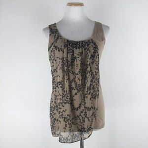 Ann Taylor Size M Floral Overlay Tank Top